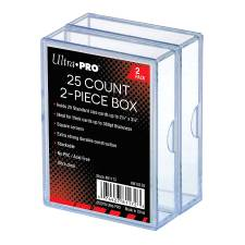 2-PIECE 25CT CLEAR CARD STORAGE BOX (2 PACK)