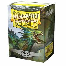DRAGON SHIELD MATTE STANDARD SLEEVES - OLIVE (100 SLEEVES)