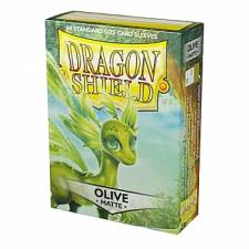 DRAGON SHIELD MATTE STANDARD SLEEVES - OLIVE (60 SLEEVES)