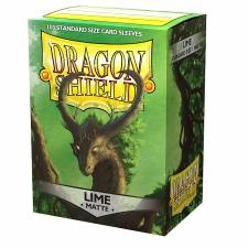 DRAGON SHIELD MATTE STANDARD SLEEVES - LIME (100 SLEEVES)