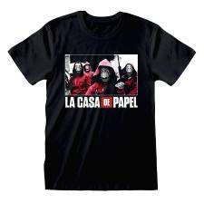 MONEY HEIST T-SHIRT PHOTO AND LOGO (L)