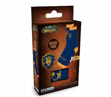 WORLD OF WARCRAFT SOCKS - BLUE & YELLOW - ALLIANCE