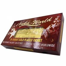 NUKA WORLD 24K GOLD PLATED TICKET
